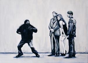 Paolo Naldi, Civil Rules 2013, olio su tela, cm. 70x50