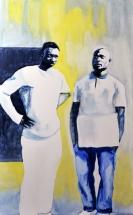 Paolo Naldi, Human Border 2015, olio su lino, cm. 50x80