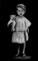 Paolo Naldi, Limbo, 2019, olio su misto lino, cm. 25x40