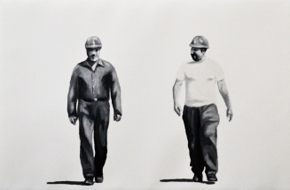 Paolo Naldi, Human Border 2017, olio su lino, cm. 60x40