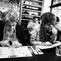 Checking the menu by Ruth Penn: fb/shmuel.penn