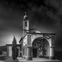 Coazzolo Church paint by David Tremlett by Domenico Masiello