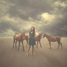 Girl with horses by Rezki Sterneanto