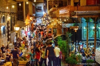 Old city Damascus 2 by Mahmoud Nouelati: fb//mahmoud.nouelati1