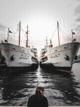 Two ships and loneliness by Koray Kara: fb/Koray.Karacam
