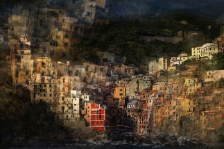Friday night in Cinque Terre by Olga Merrill