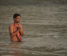 Offering prayers by Saptarshi Rakshit