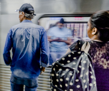 A ride in São Paulo's subway by Wulf Rossler