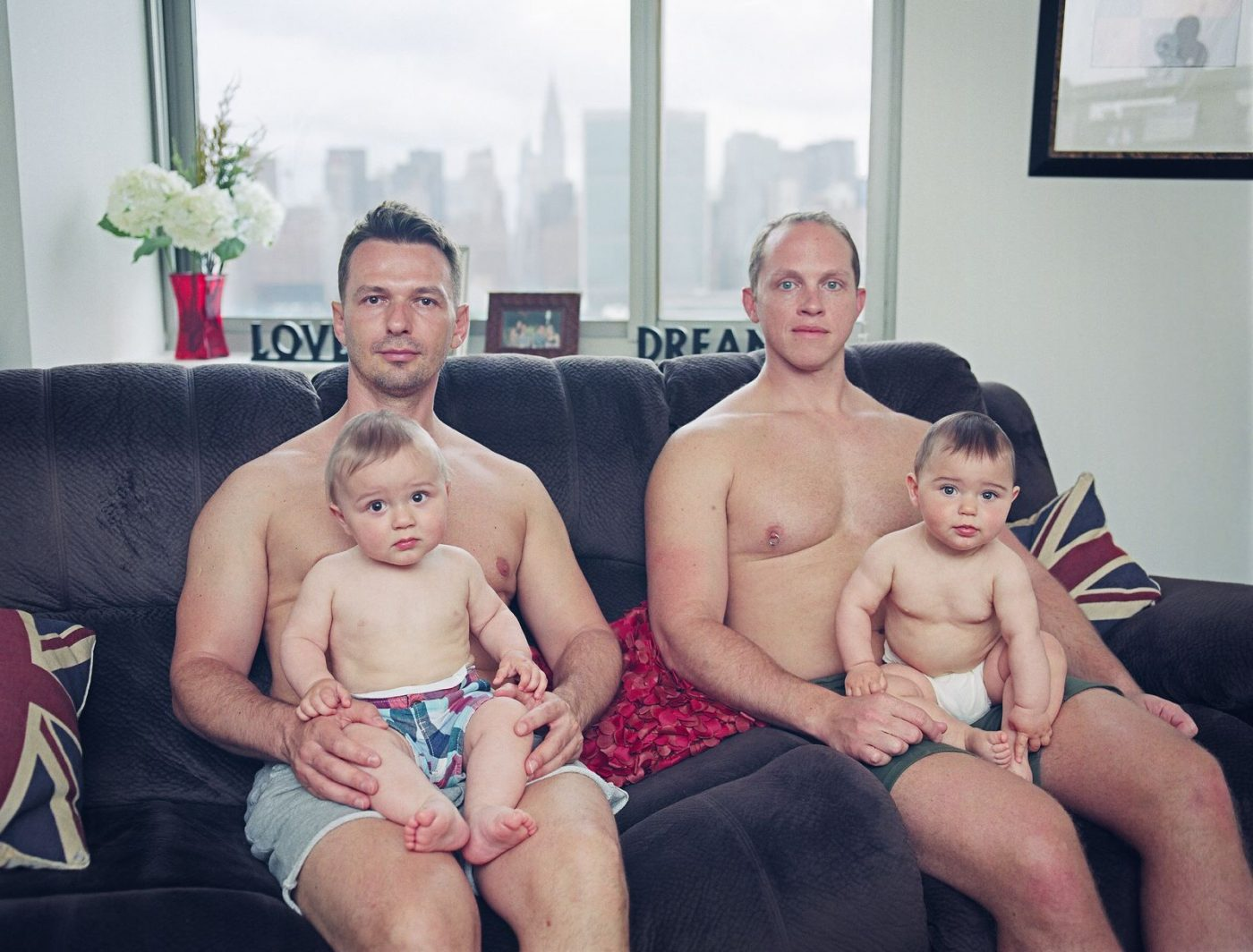 PEOPLE: UNITED NATIONS FROM THE SERIES GAY DADS by BART HEYNEN (BELGIUM) FIRST WINNER
