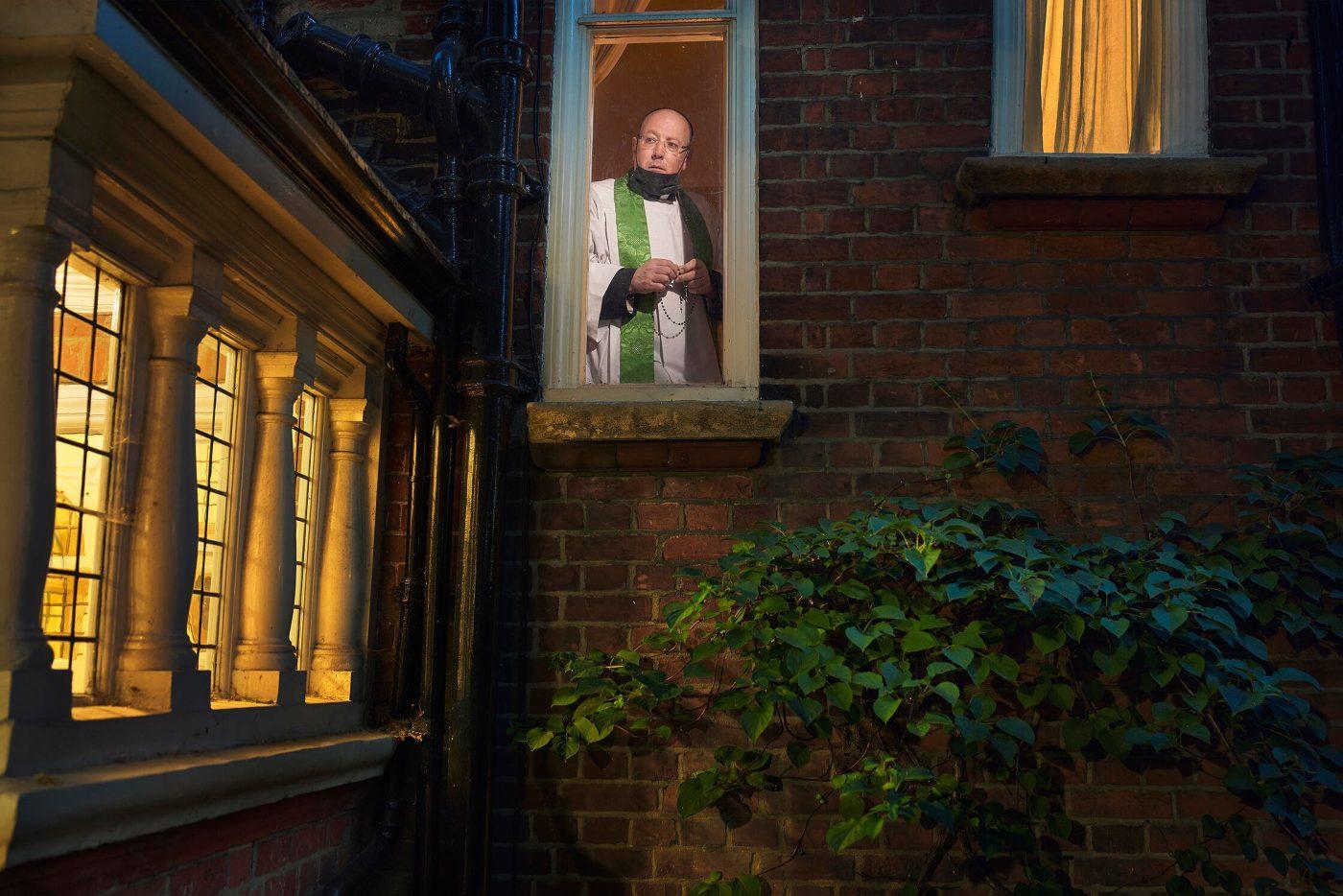 Father Kevin, Lockdown Day 70 by Julia Fullerton-Batten