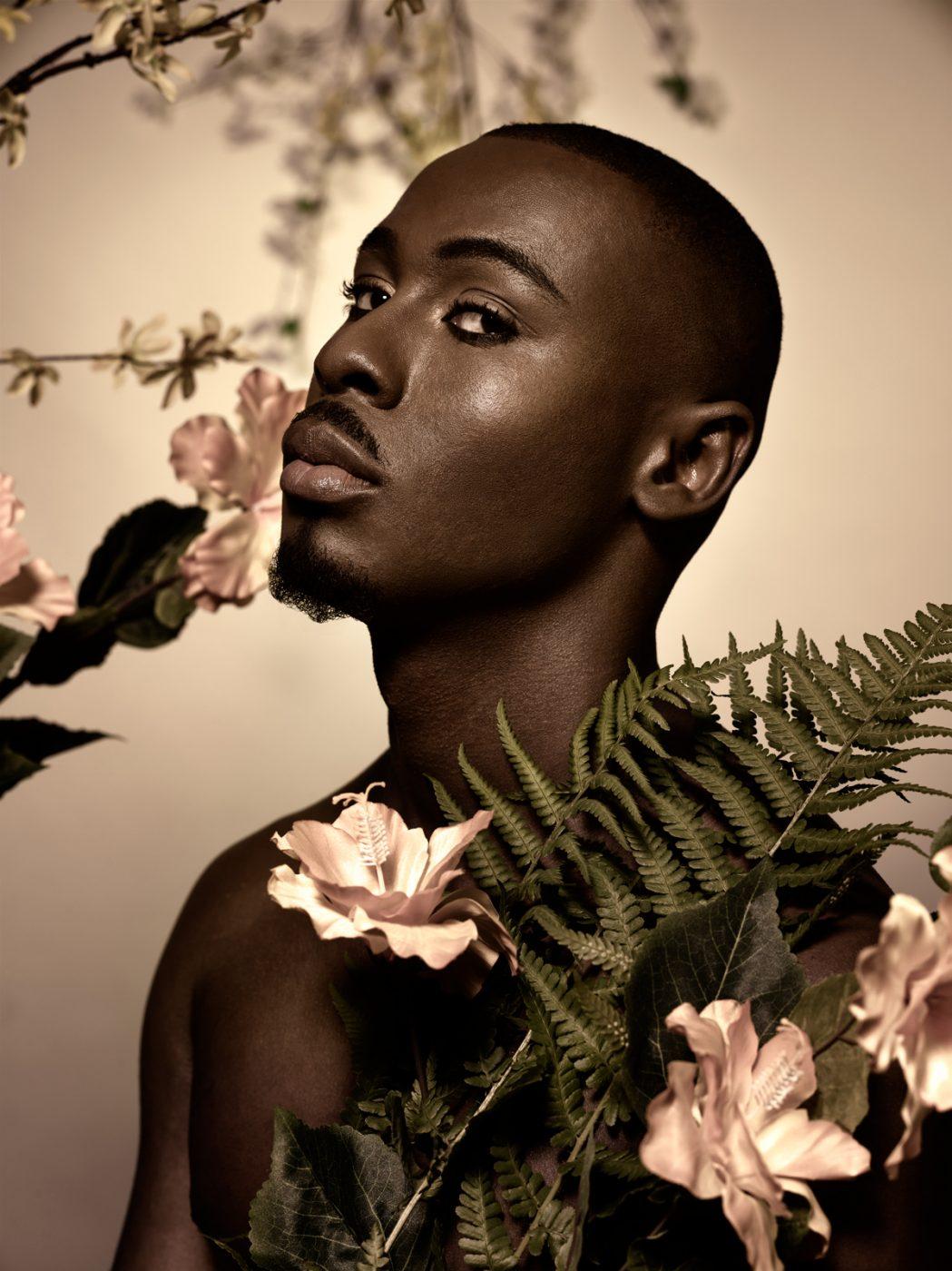 Renata Dutree: Daniel with Flowers III